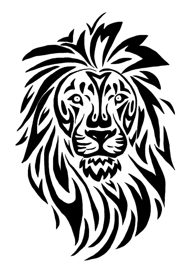736x1008 Collection Of Realism Lion Line Art Tattoo Design