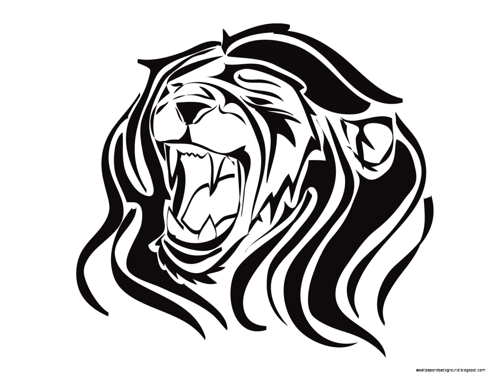 Line Art Lion : Lion roar drawing at getdrawings free for personal use