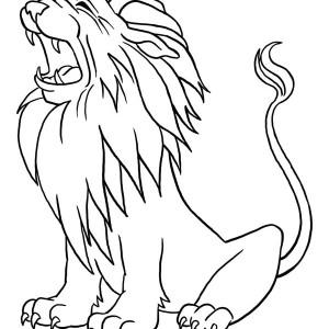 300x300 Little Cover Her Ear When She Hear Lion Roar Coloring Page Little