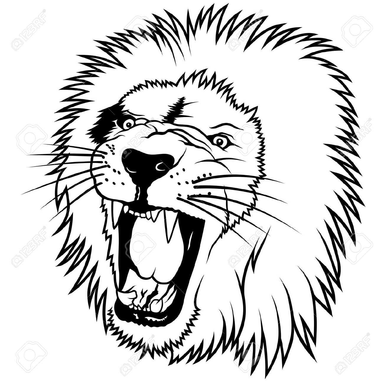 1300x1300 Drawn Lion Illustration
