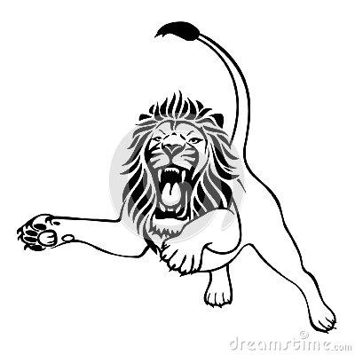 400x400 Lion Clipart Fierce Lion