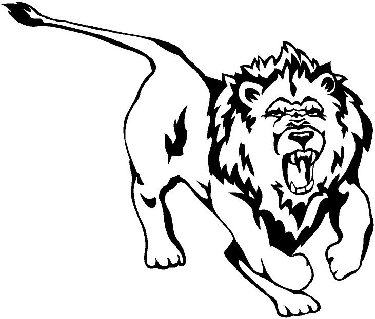 731x623 Roaring Lion Clipart Black And White