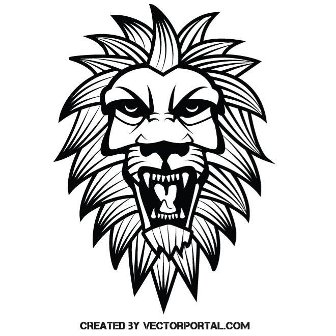 660x660 Roaring Lion Vector Clip Art