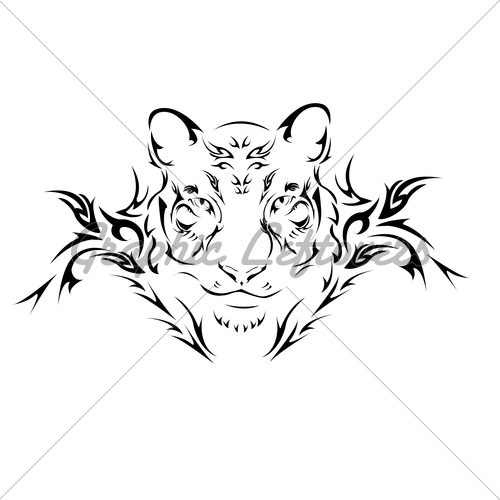 500x500 Tribal Roaring Lion Tattoo Graphic In 2017 Real Photo, Pictures