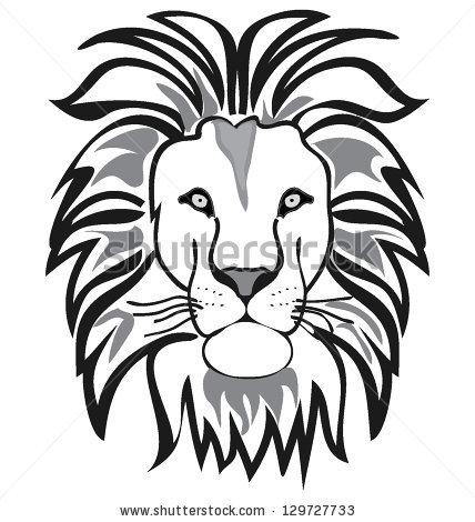 428x470 Drawn Lion Face Outline