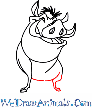 300x350 How To Draw Pumbaa From The Lion King
