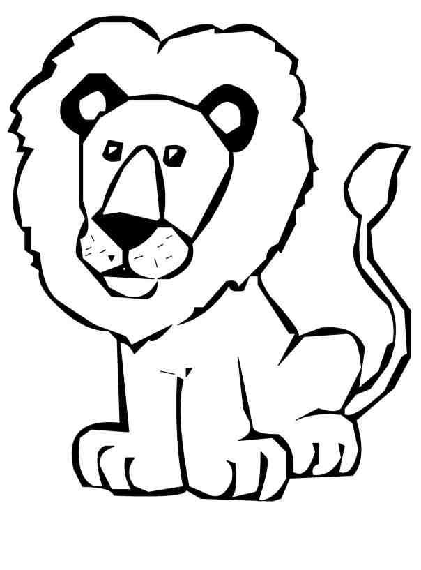 604x817 Lion Clipart Simple