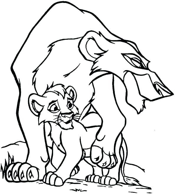 600x658 Simple David And Jonathan Coloring Pages Free Download King Lion