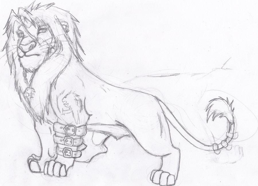 900x649 Leon The Lion Sketch By Hylian Dragoness