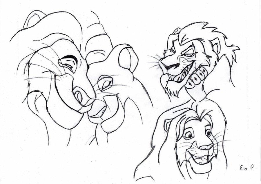 900x636 Lion King Sketches Part 4 By Nostalgiaattack