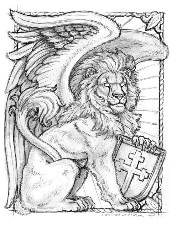 565x720 Boy Winged Lion Sketch By Synnabar