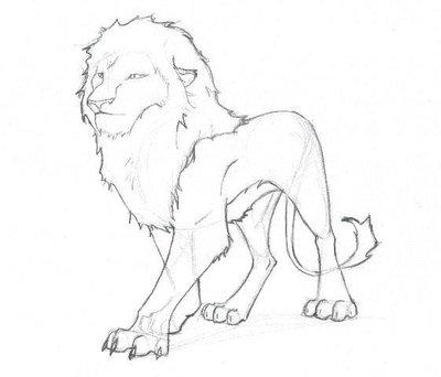 400x342 Lion Sketch By Resendel