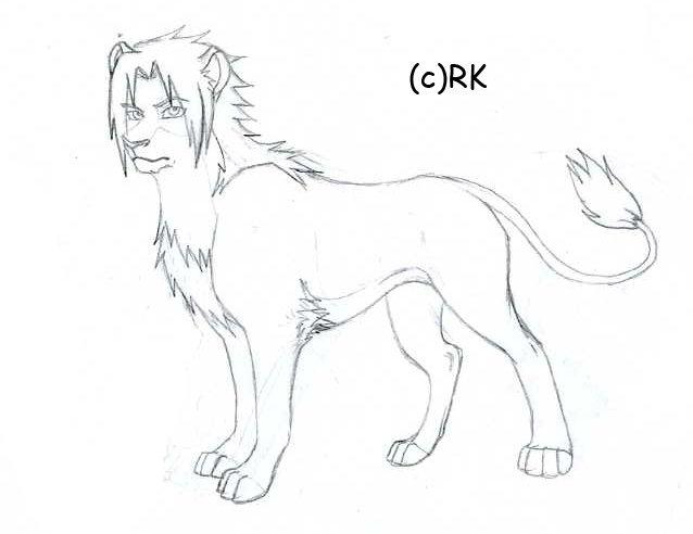 638x492 Sasuke Lion Sketch By Russiankunoichi Fc