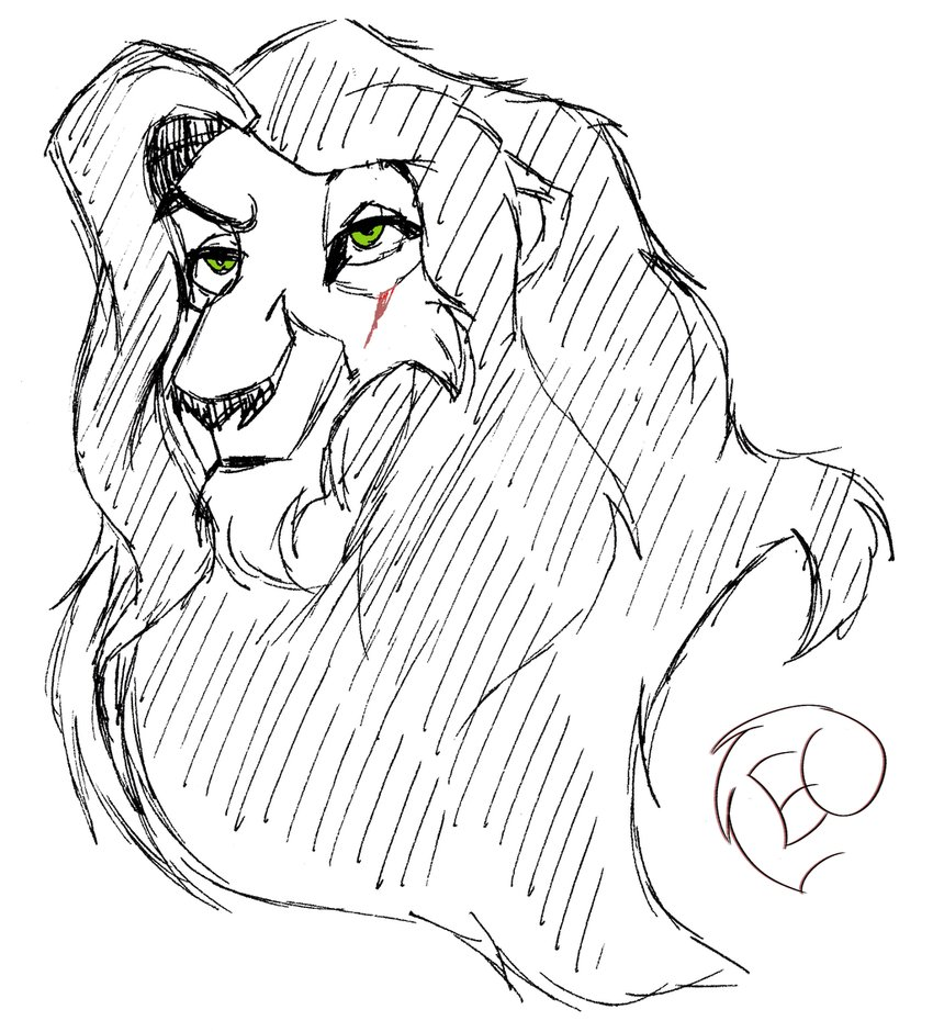 850x940 The Lion King Younger Scar Sketch By Epiccrasher