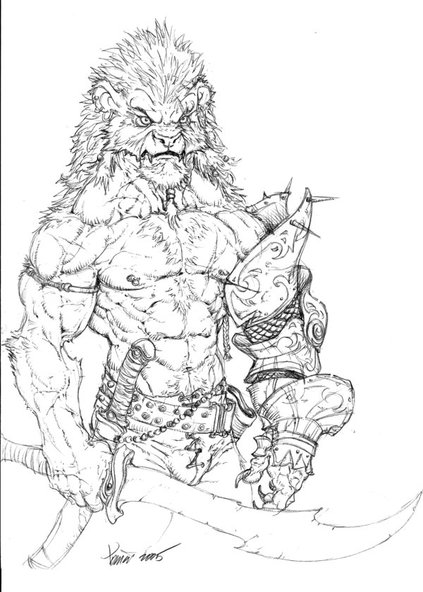 600x839 Lion Warrior By Tdm Studios