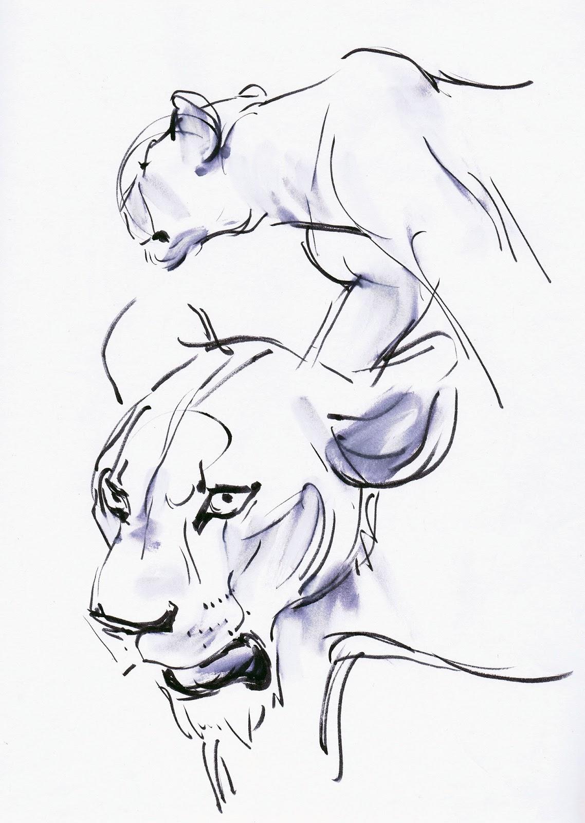 1138x1600 Deja View Drawing Lions