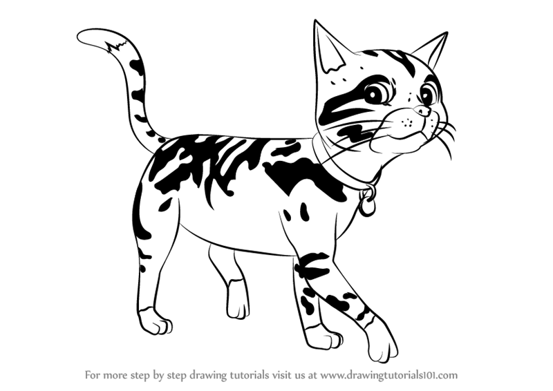 800x566 Learn How To Draw Lion Cat From Fireman Sam (Fireman Sam) Step By