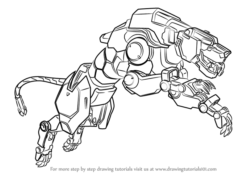 800x567 Learn How To Draw Yellow Lion From Voltron