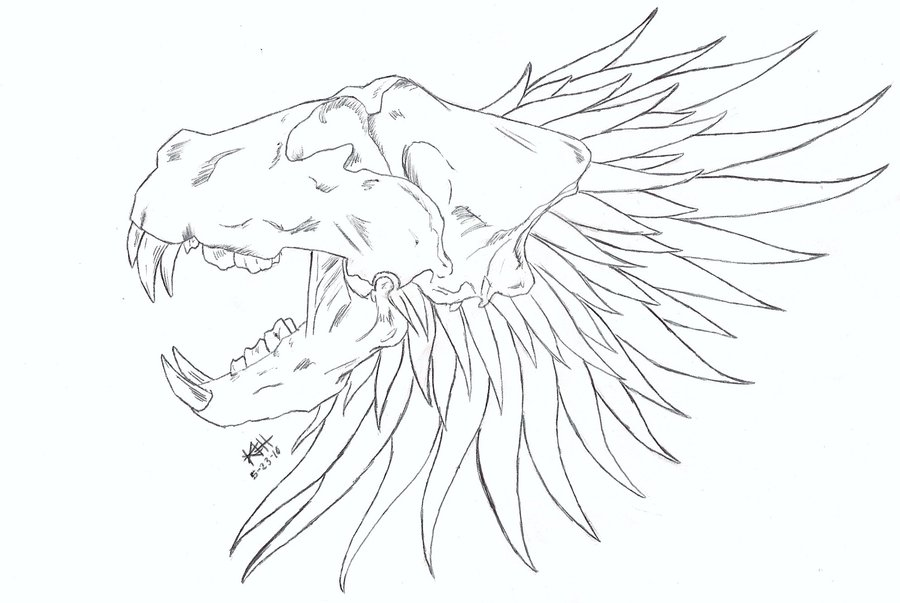 900x603 Lion Skull Tattoo Redesign By Crymson Rayne