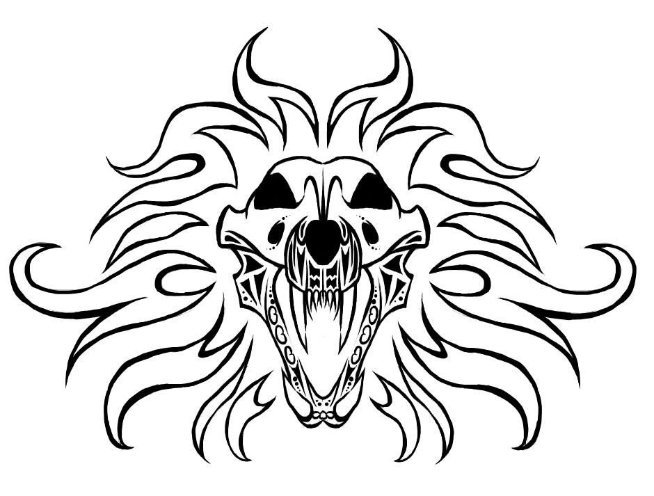 940x713 Lion Skull Tattoo By Evil Spark Dragon