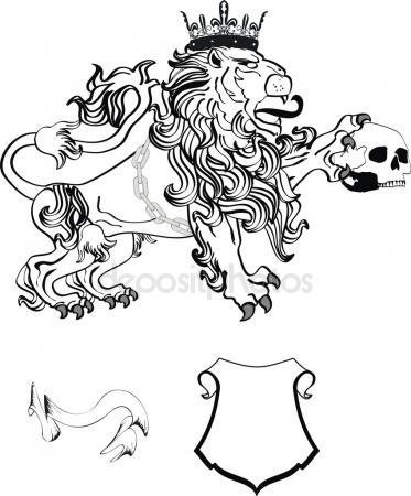 373x450 Lion Skull Vector Stock Vectors, Royalty Free Lion Skull Vector