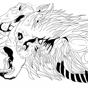 300x300 Skull Coloring Pages