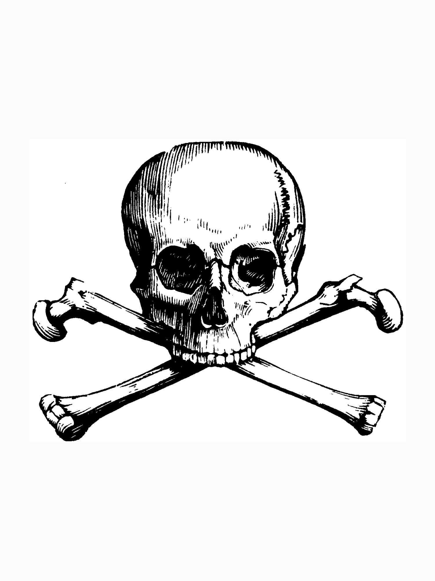 1500x2000 Coloring Pages Skull Skull And Cross Bones