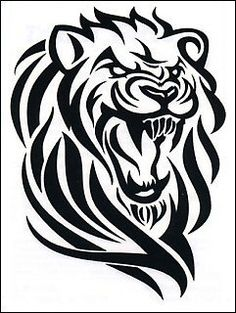 236x313 Collection Of One More Tribal Lion Tattoo Stencil