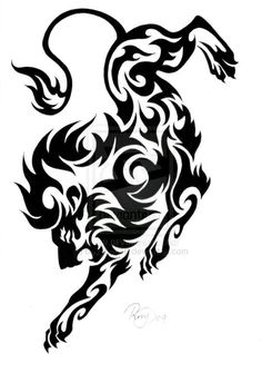 236x335 18 Magnificent Tribal Lion Tattoo Only Tribal Tattoos