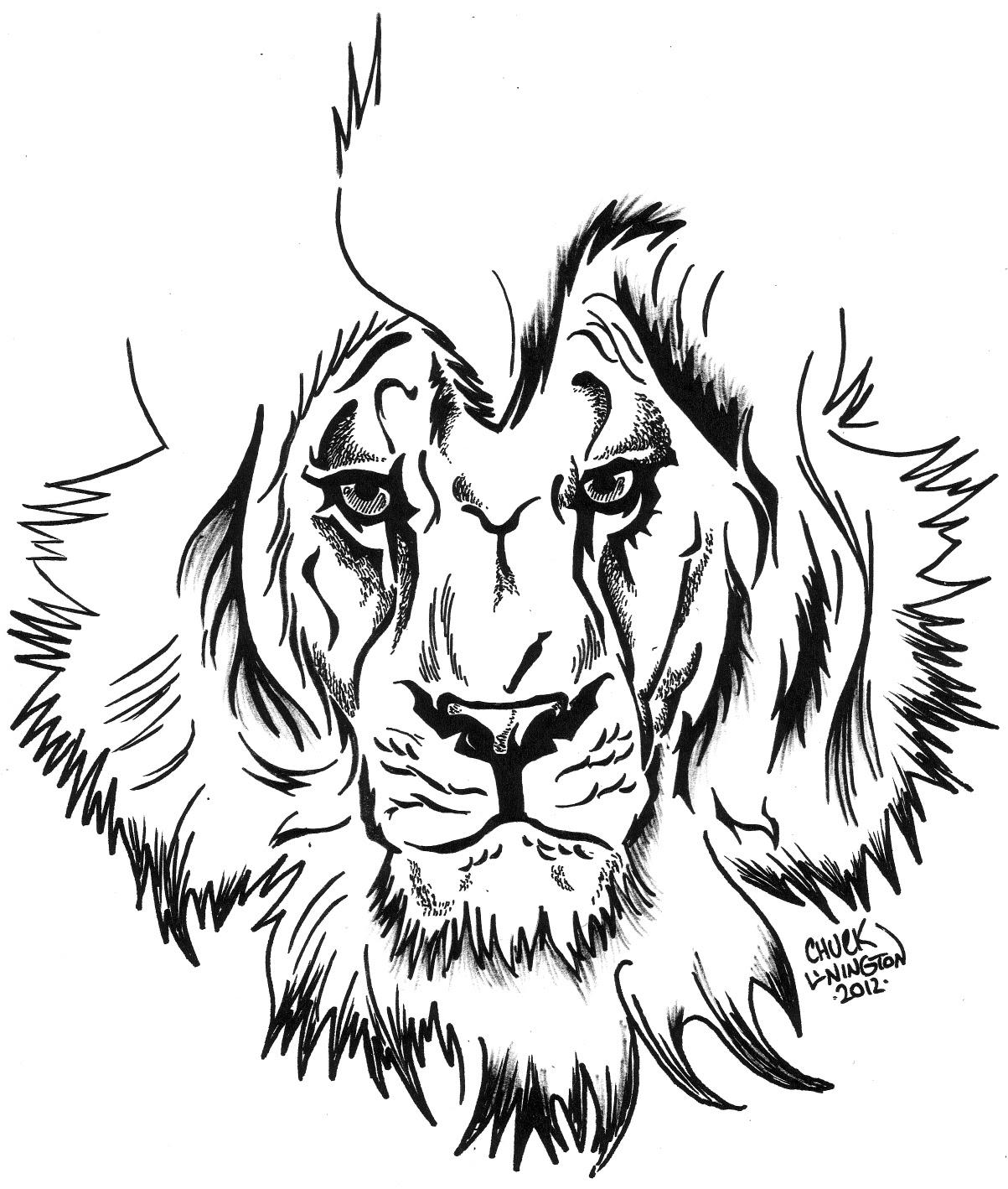 1203x1418 The Art Of Chuck Amok Lion Tattoo Design White Lion Tattoo