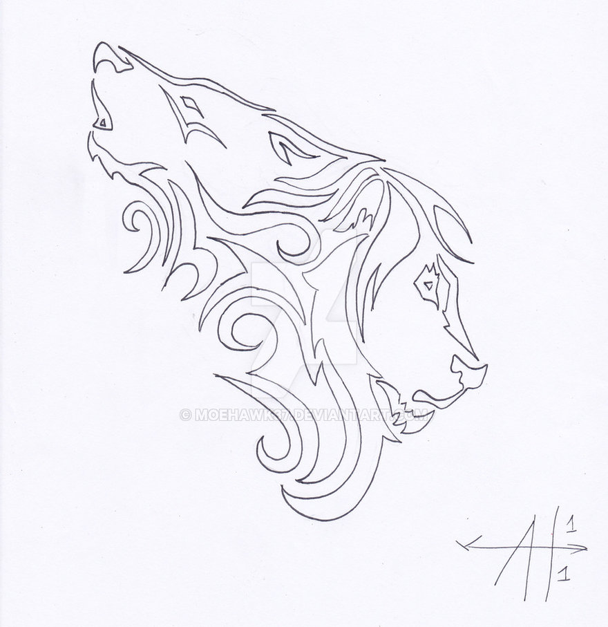 880x907 Wolf Lion Tattoo Outline By Moehawk37