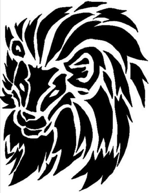 500x643 Tribal Lion Tattoo Designs For Men And Women Tattoo