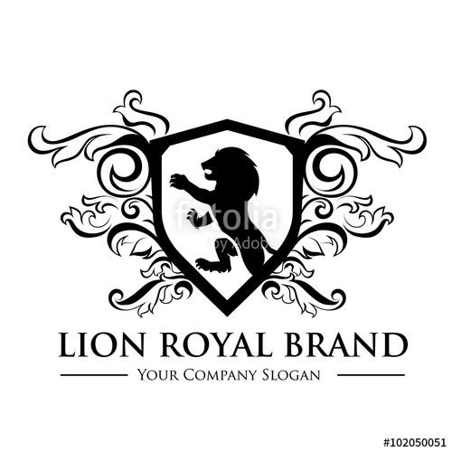 500x500 King Royal,crest Logo,lion Logo,king Logo,crown Logo,vector Logo
