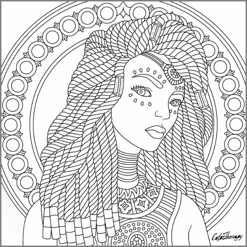 Dread Lock Coloring Pages