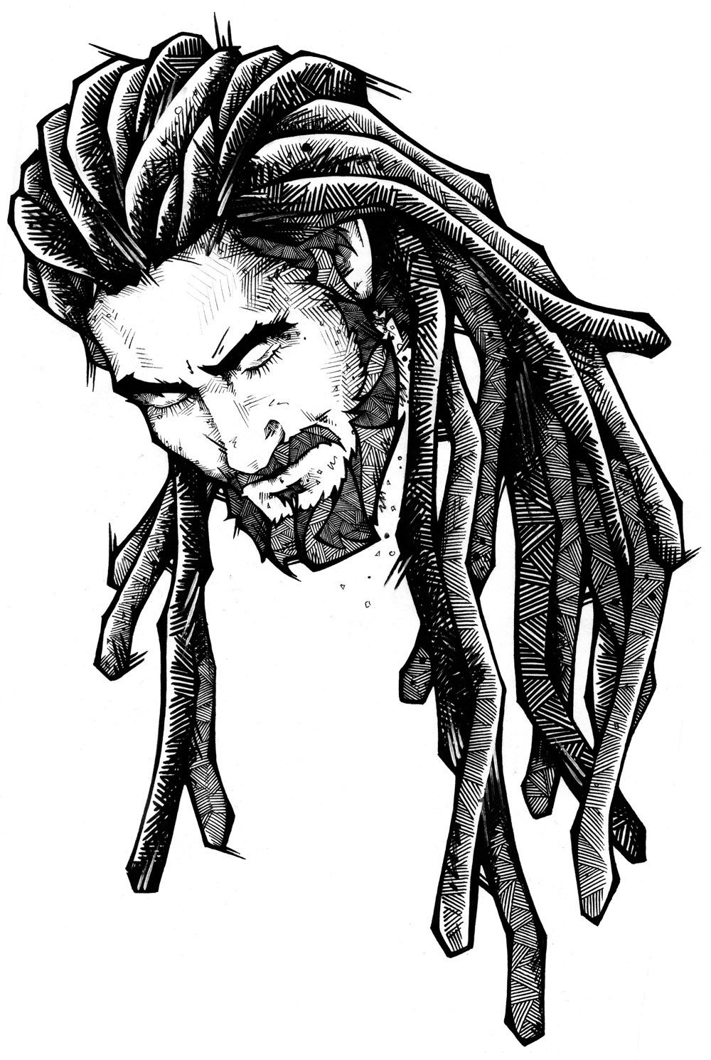 Lion with dreads tattoo drawings - photo#38