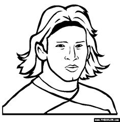 236x240 Lionel Messi Online Coloring Page Kids Print And Color