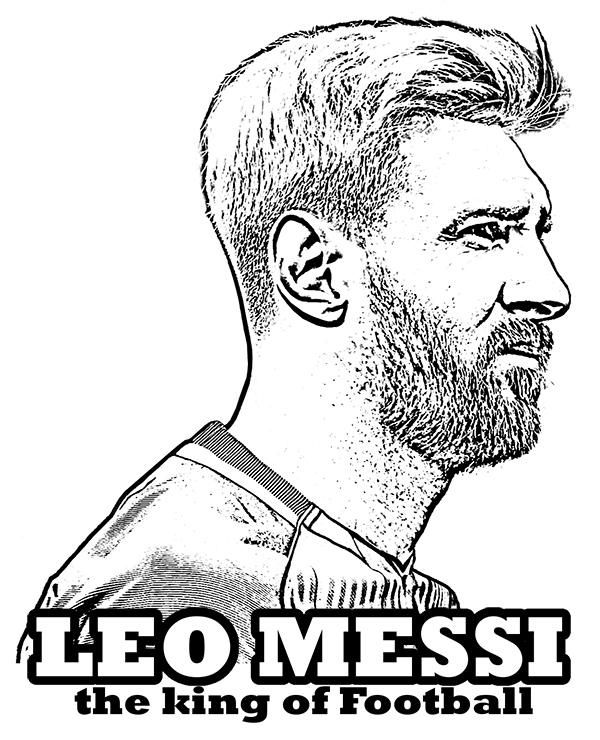 600x740 Lionel Messi Coloring Page By Topcoloringpages