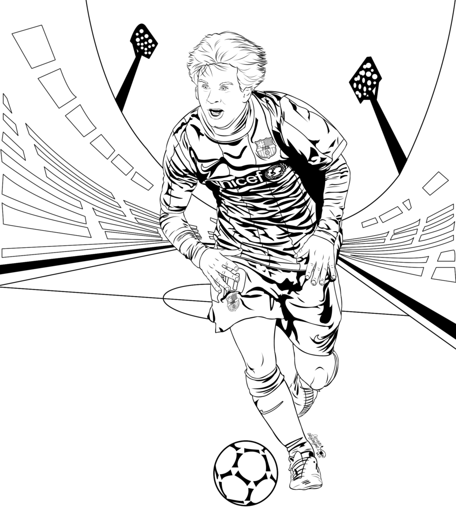 900x1008 Lionel Messi Drawings To Color ~ Child Coloring