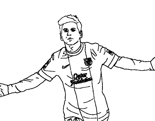 600x470 Messi Coloring Pages