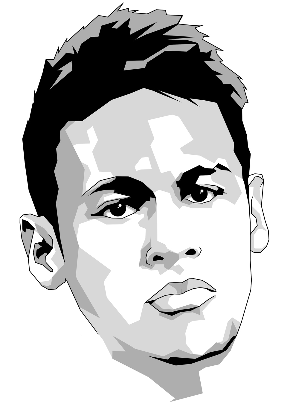 1000x1350 Neymar Face From Back Of 2017 Drawing Drawing Lionel Messi