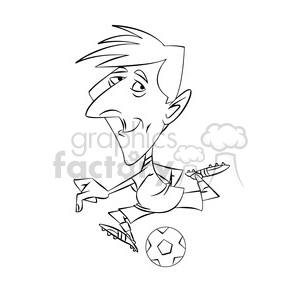 300x300 Royalty Free Lionel Messi Black And White 395082 Vector Clip Art