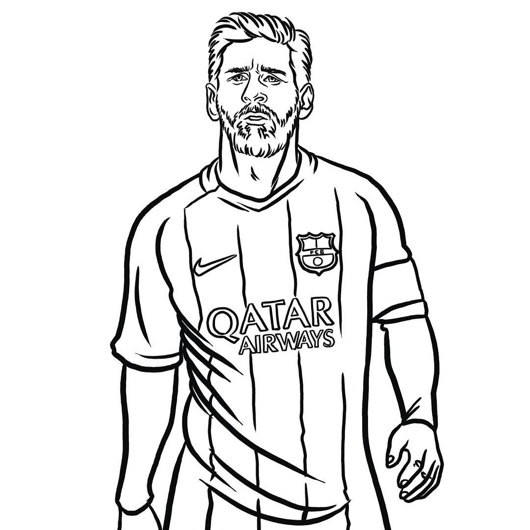 Lionel Messi Drawing At GetDrawings
