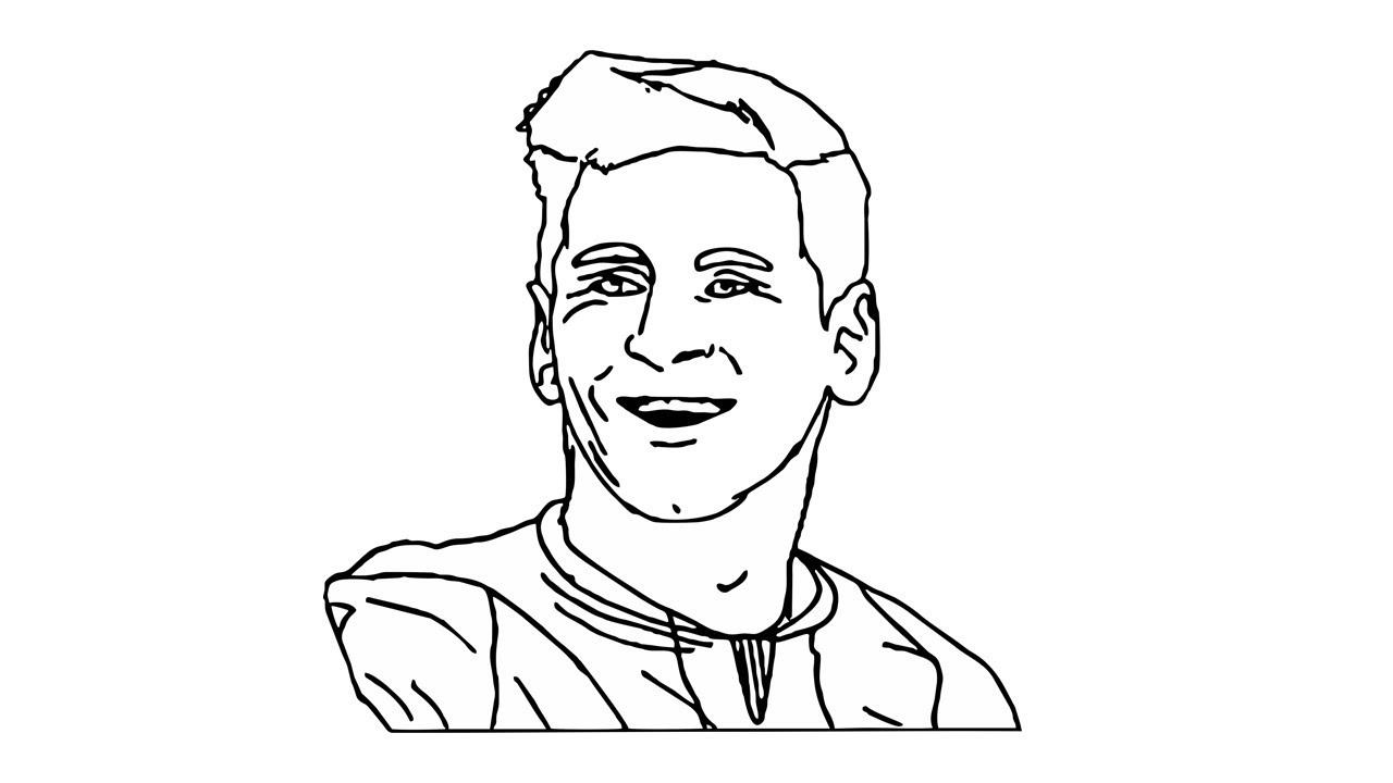 1280x720 Como Desenhar O Lionel Messi