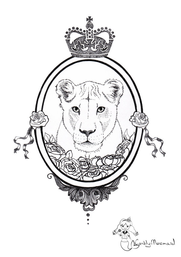 600x849 Lioness. Sketch For Tatoo By Candymermaid