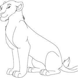 268x268 Lioness Coloring Pages Coloring Page For Kids