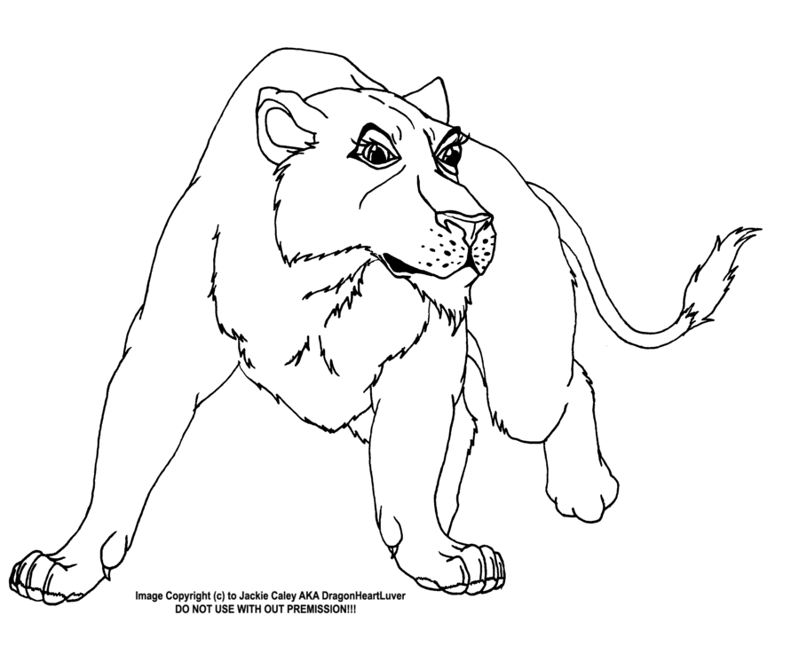900x728 Lioness Line Art 2 By Dragonheartluver