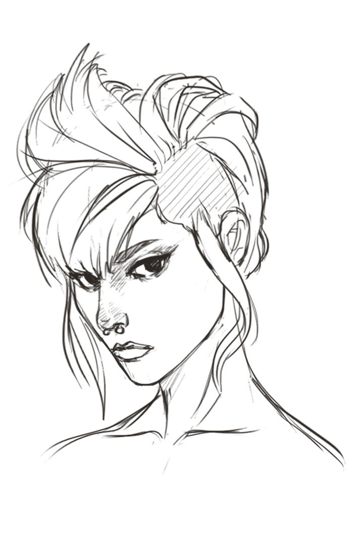 717x1075 Lioness Hair Sketch By Maitaboris