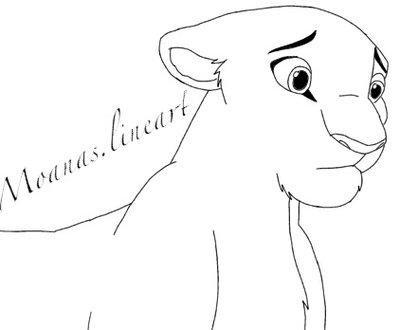 400x330 Sad Lioness By Moanaslineart