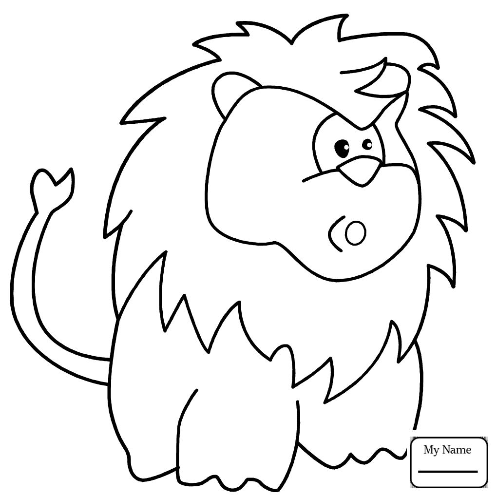 1020x1020 Coloring Pages For Kids Lions Cute Lion Mammals