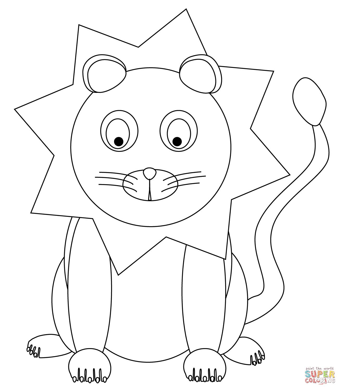 1309x1500 Drawn Lion Traceable